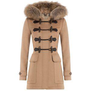 NWT Burberry Brit Blackwell Toggle Duffle Wool Coat CAMEL US 0 UK 2 AUTHENTIC